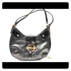 Ralph Lauren Original black leather shoulder bag
